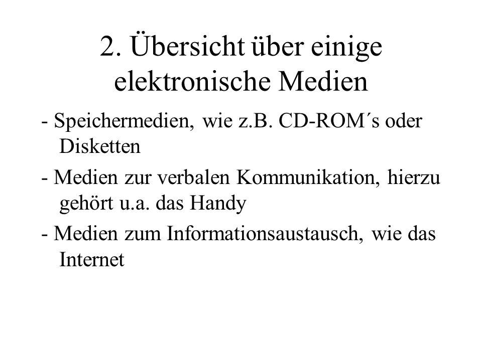 2. Übersicht über einige elektronische Medien