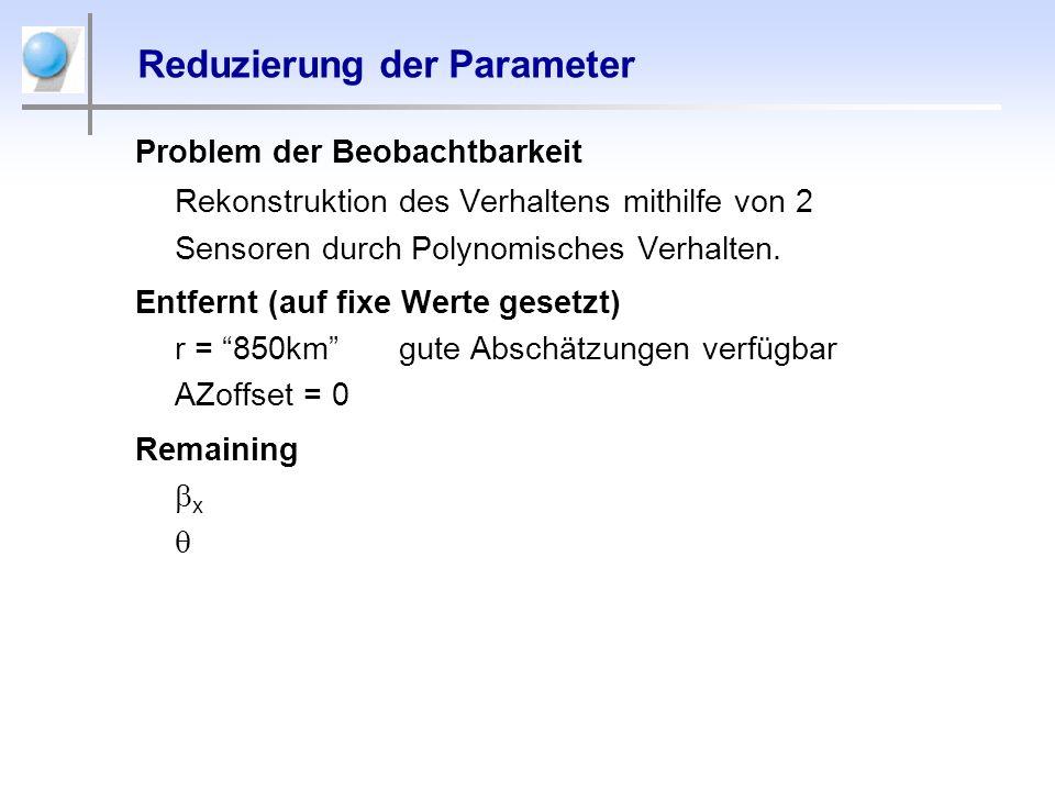 Reduzierung der Parameter