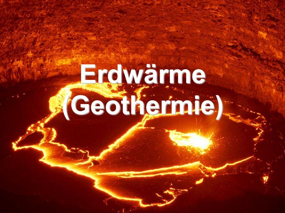Erdwärme (Geothermie)