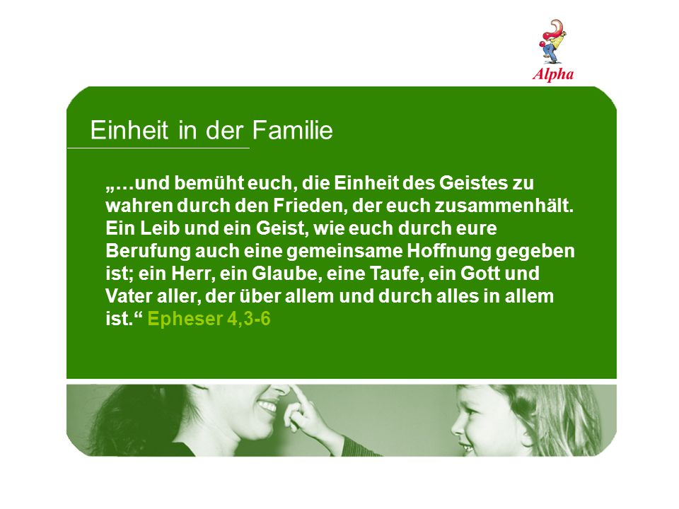 Einheit in der Familie