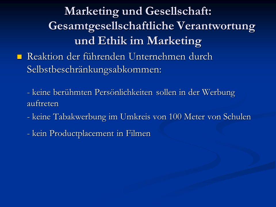 Marketing und Gesellschaft: