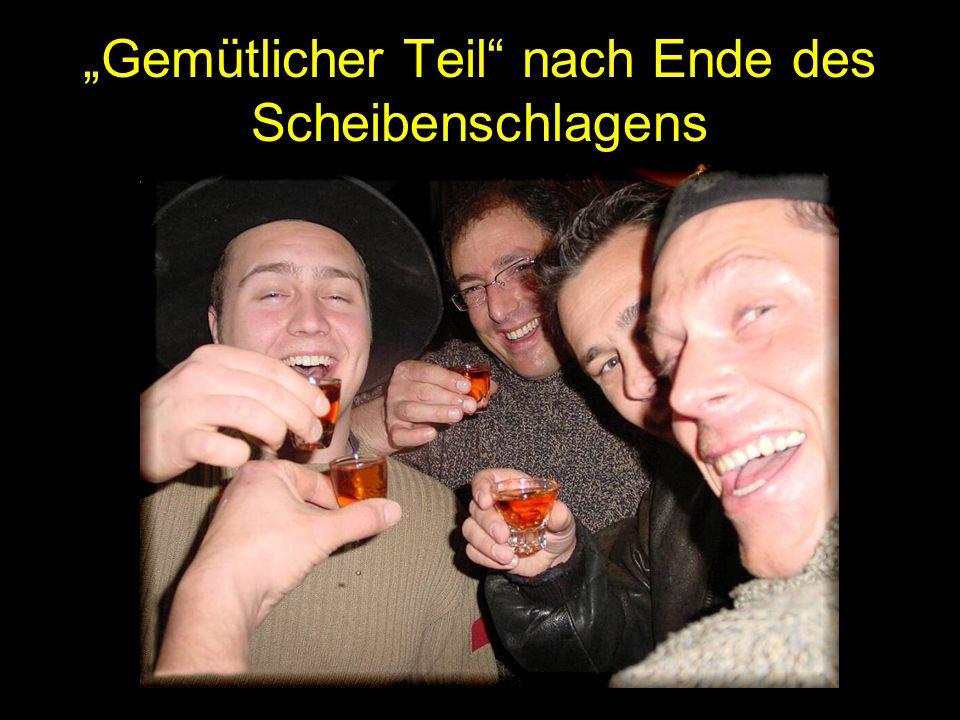 """""""Gemütlicher Teil nach Ende des Scheibenschlagens"""