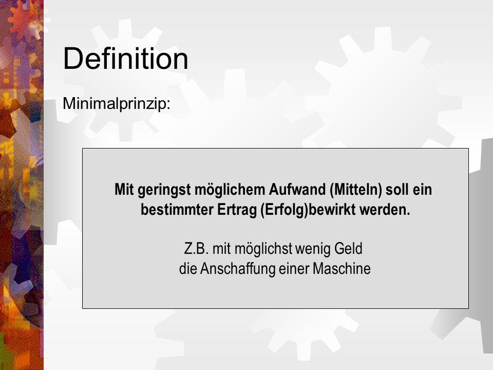 Definition Minimalprinzip: