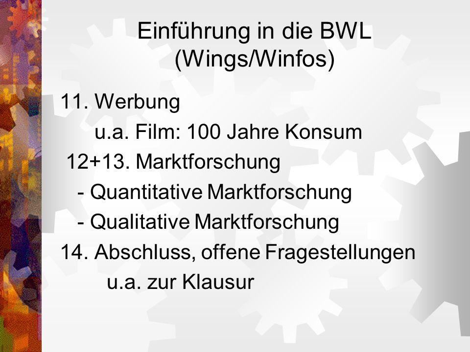 Einführung in die BWL (Wings/Winfos)