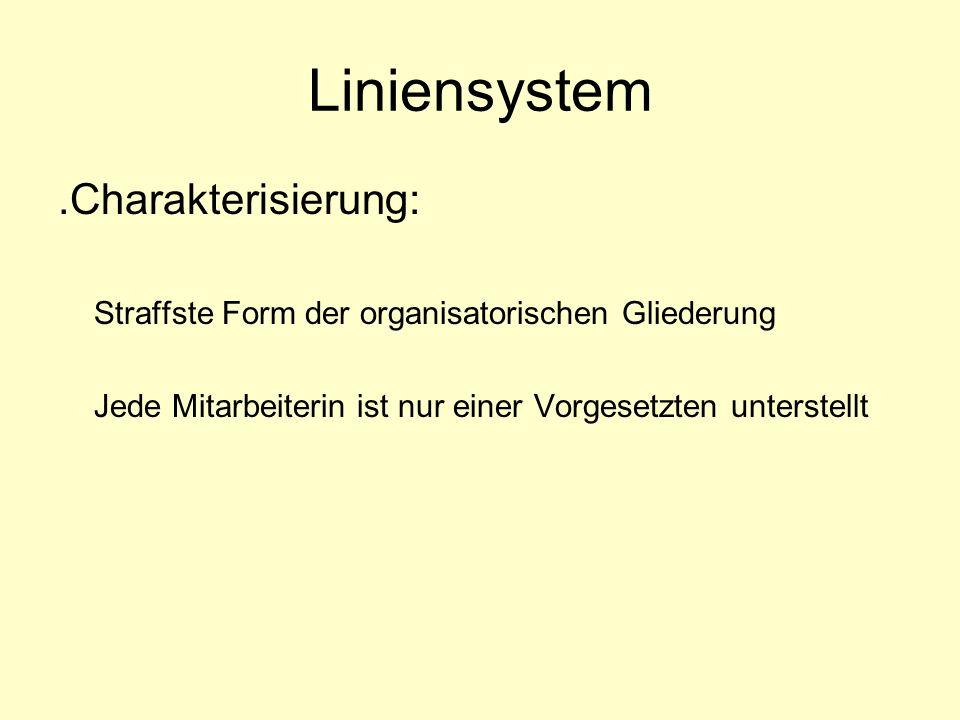 Liniensystem .Charakterisierung: