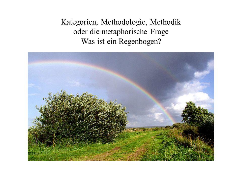 Kategorien, Methodologie, Methodik oder die metaphorische Frage Was ist ein Regenbogen