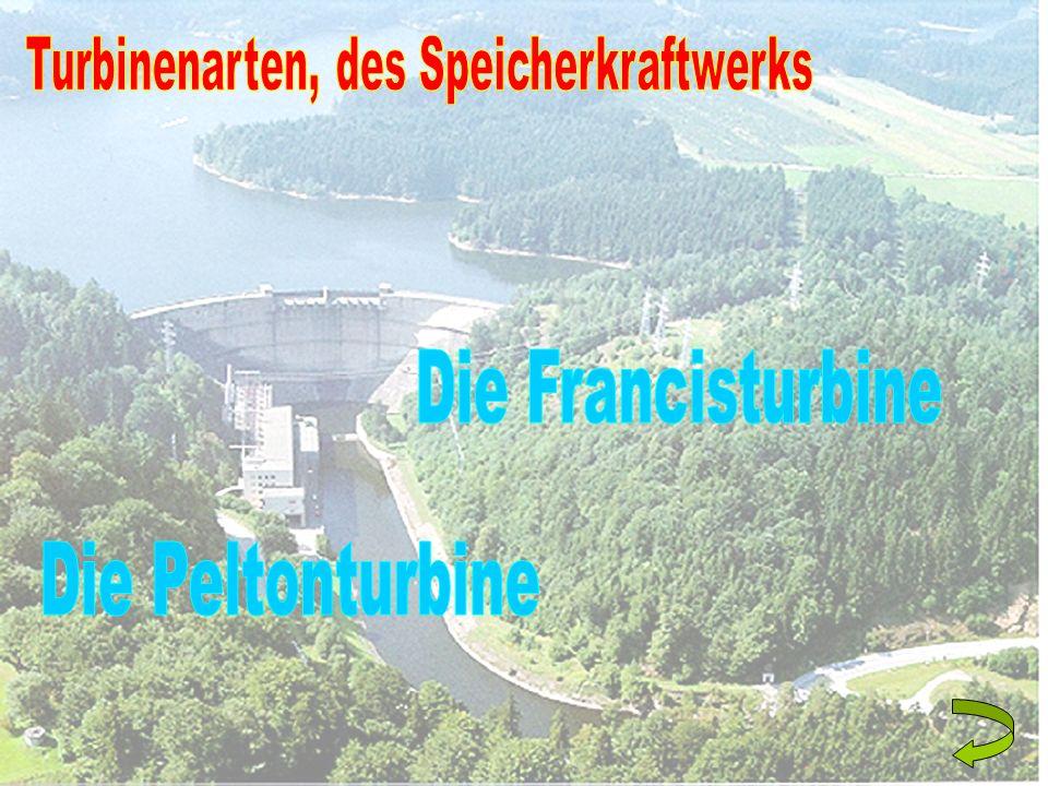 Turbinenarten, des Speicherkraftwerks