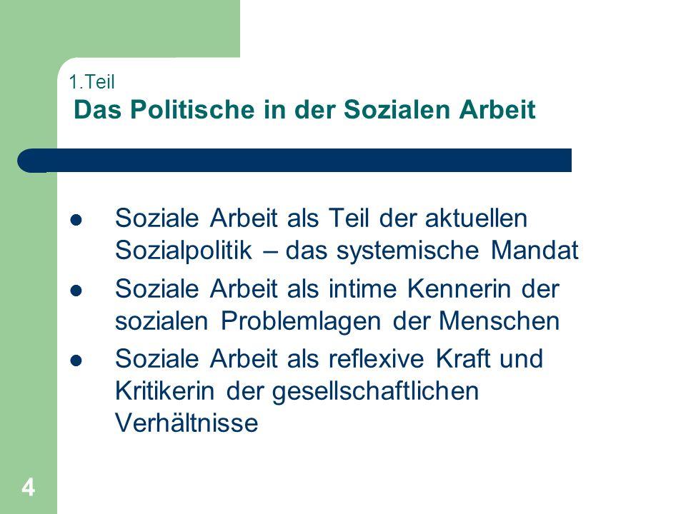 1.Teil Das Politische in der Sozialen Arbeit