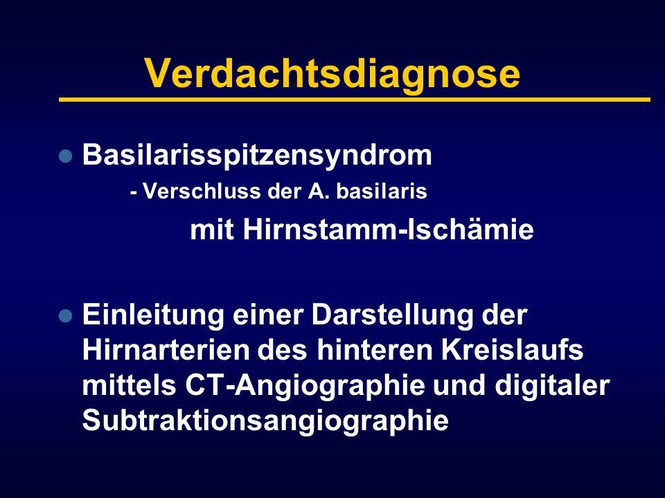 Verdachtsdiagnose Basilarisspitzensyndrom