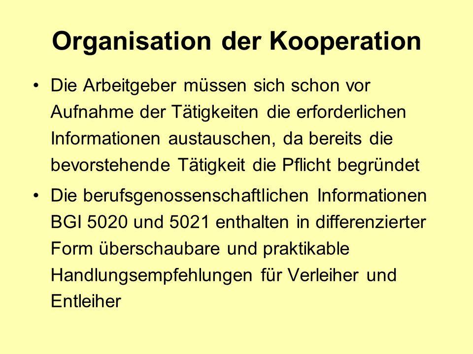Organisation der Kooperation