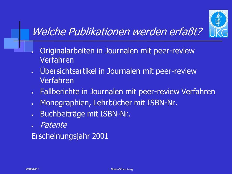 Welche Publikationen werden erfaßt