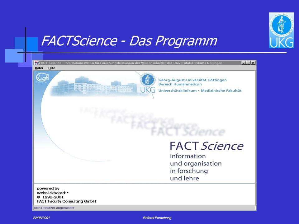 FACTScience - Das Programm
