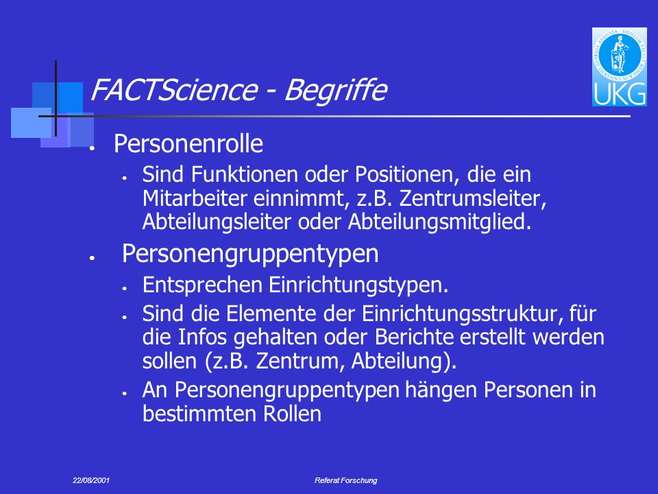 FACTScience - Begriffe