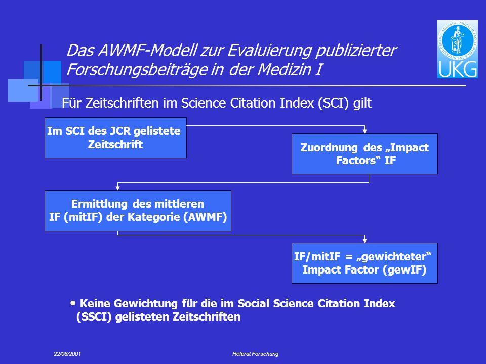 Das AWMF-Modell zur Evaluierung publizierter Forschungsbeiträge in der Medizin I