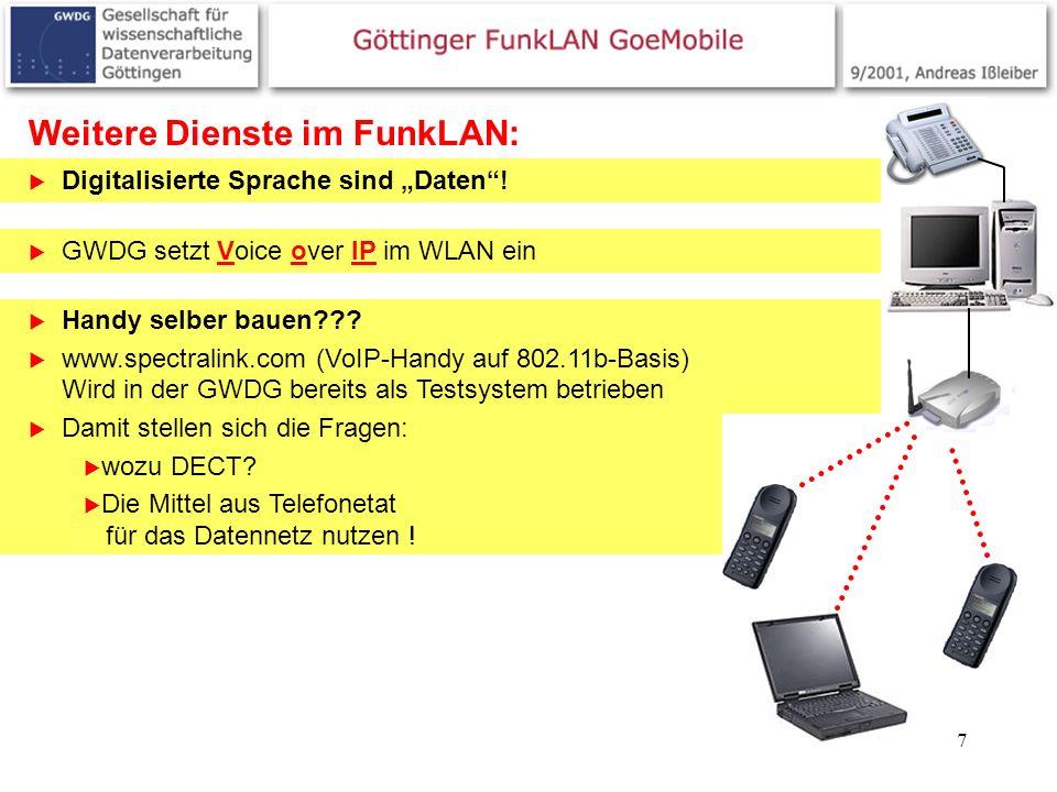 Weitere Dienste im FunkLAN:
