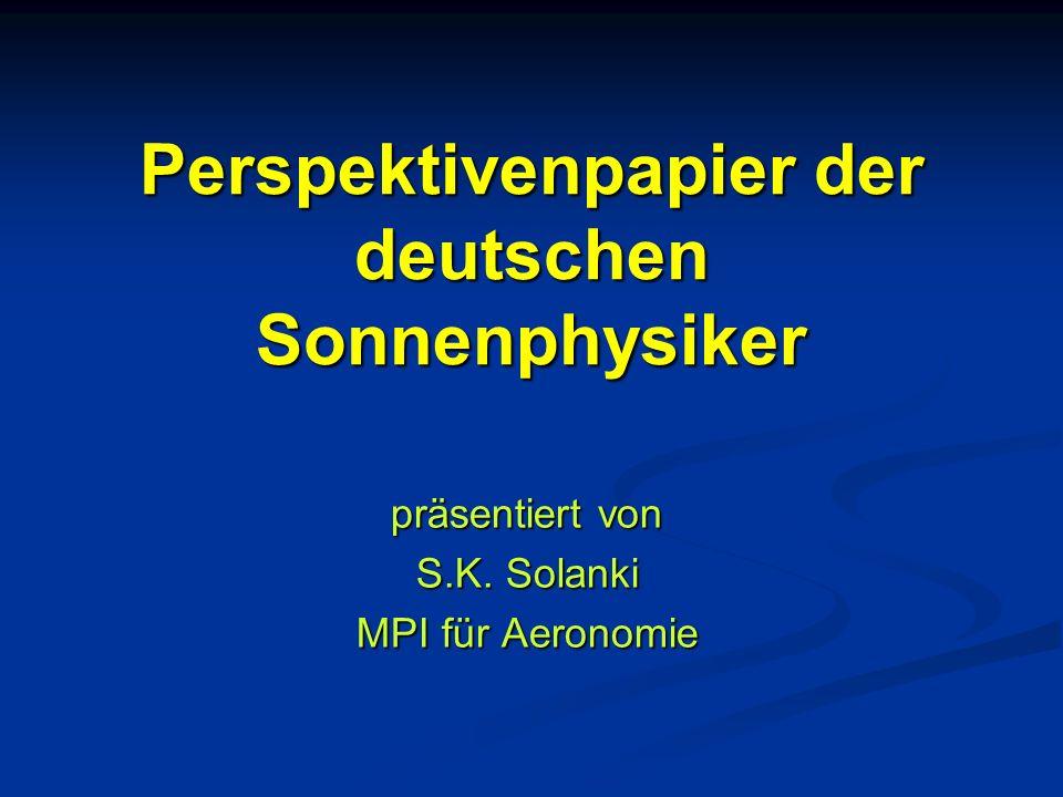 Perspektivenpapier der deutschen Sonnenphysiker
