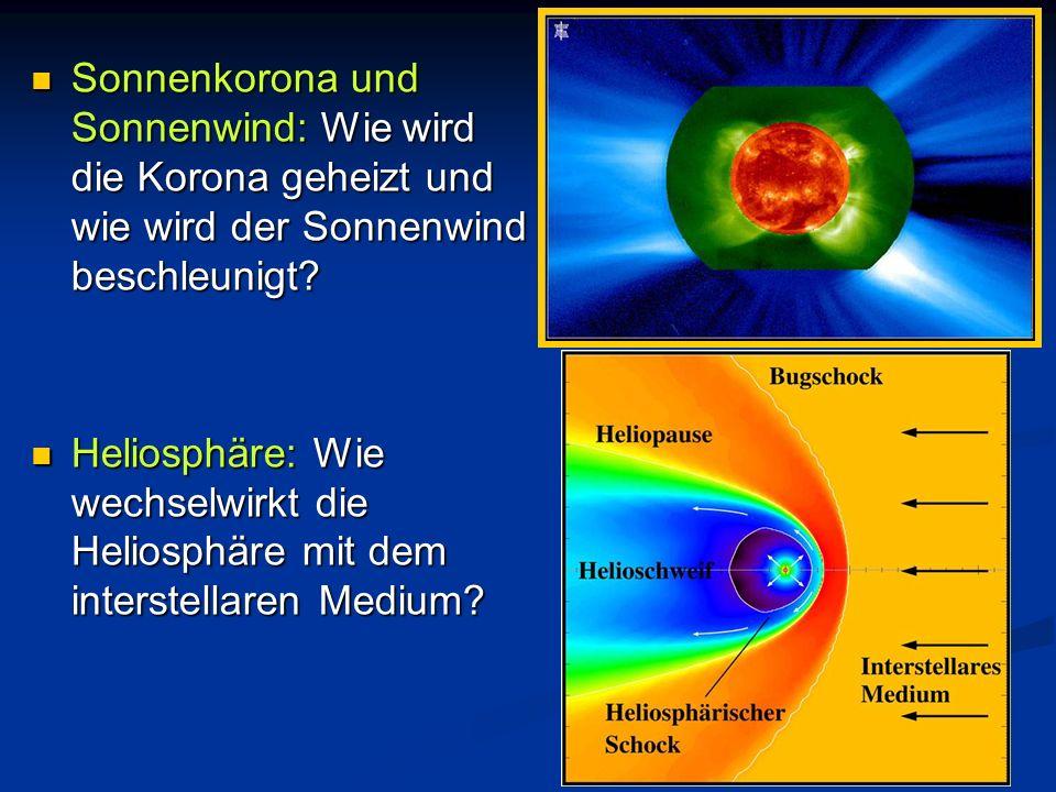Sonnenkorona und Sonnenwind: Wie wird die Korona geheizt und wie wird der Sonnenwind beschleunigt