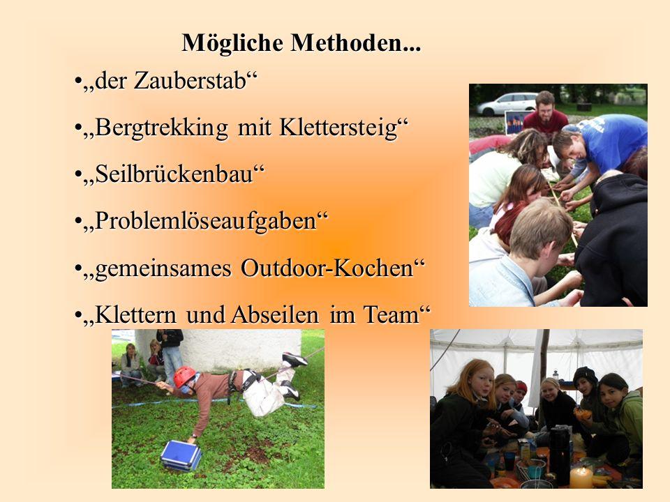 """""""Bergtrekking mit Klettersteig """"Seilbrückenbau """"Problemlöseaufgaben"""