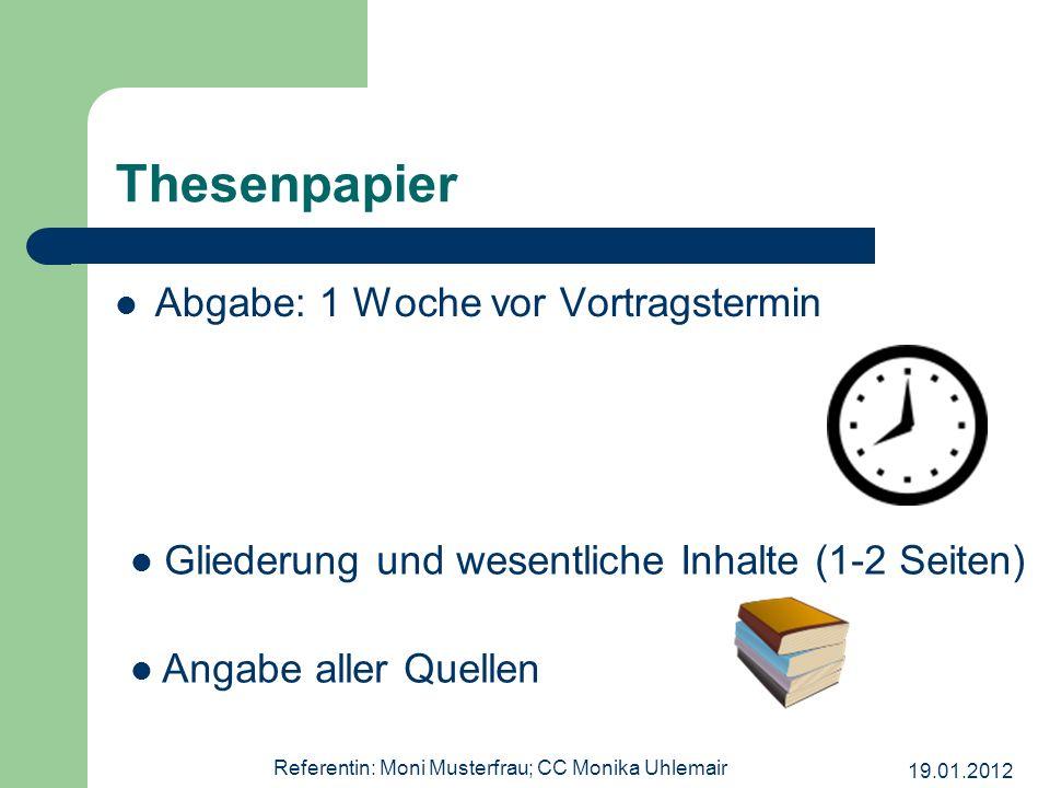 Referentin: Moni Musterfrau; CC Monika Uhlemair
