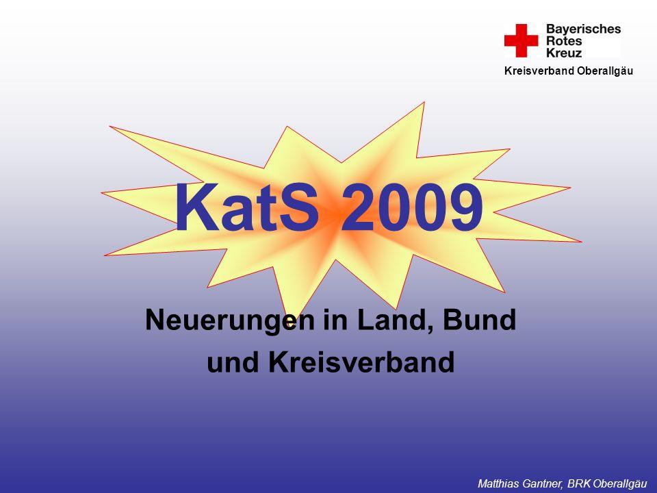 Neuerungen in Land, Bund und Kreisverband