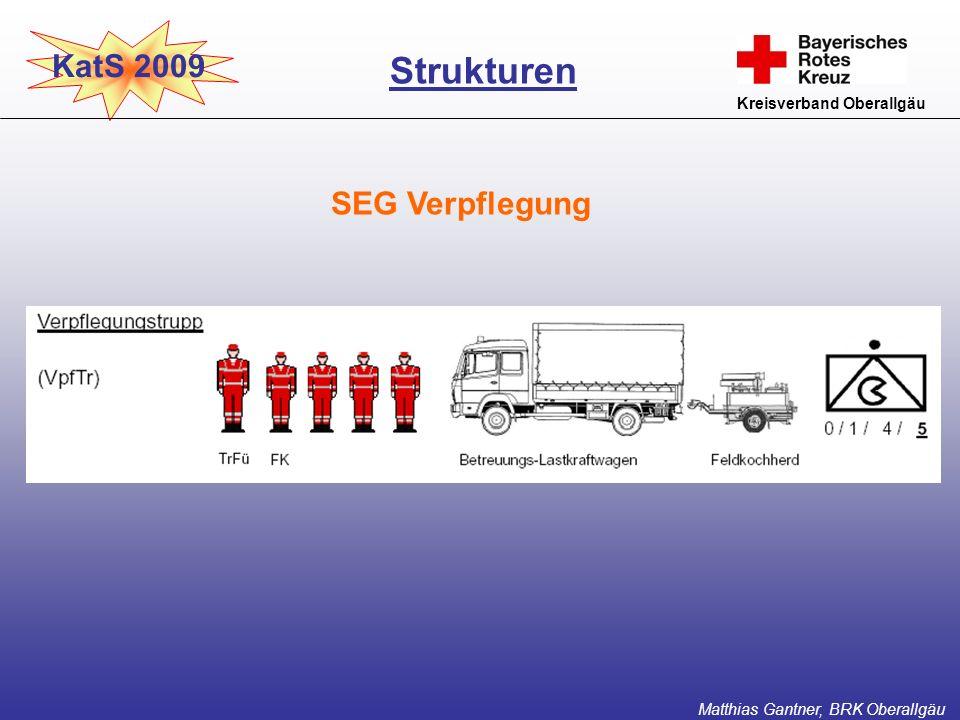 Strukturen KatS 2009 SEG Verpflegung Kreisverband Oberallgäu