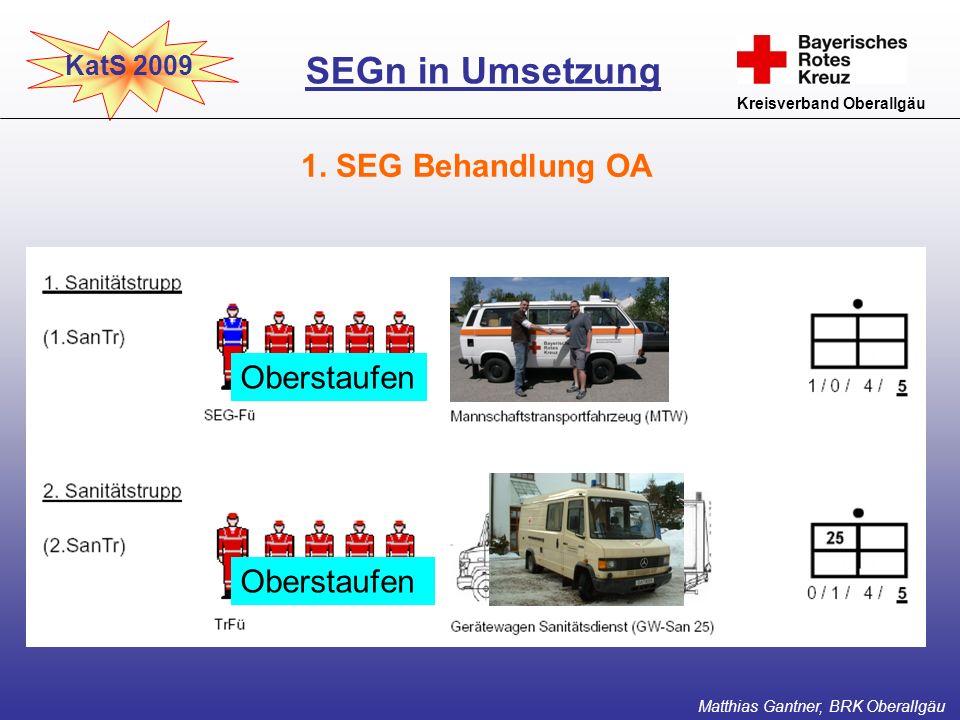 SEGn in Umsetzung 1. SEG Behandlung OA Oberstaufen Oberstaufen