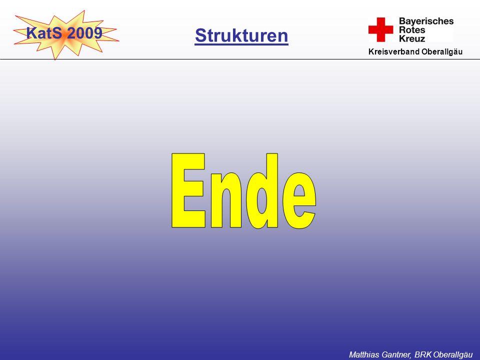 Ende Strukturen KatS 2009 Kreisverband Oberallgäu