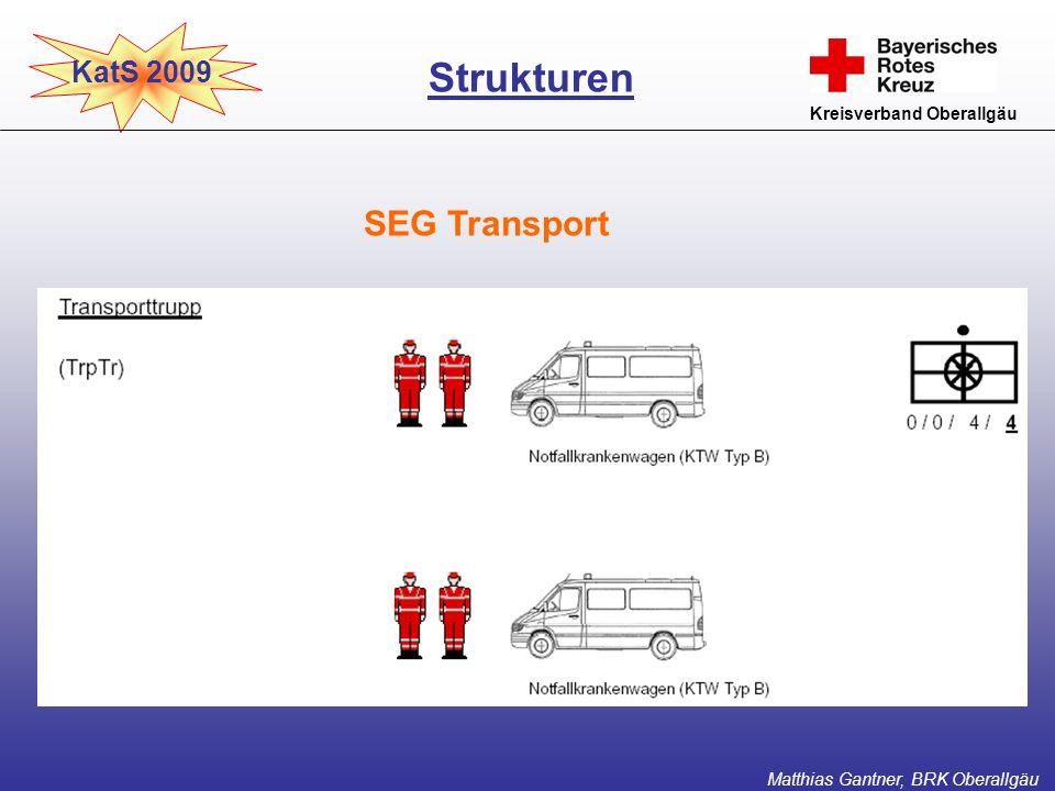 Strukturen SEG Transport KatS 2009 Kreisverband Oberallgäu