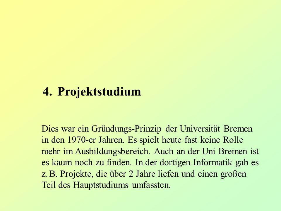 4. Projektstudium