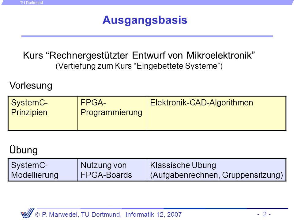 Ausgangsbasis Kurs Rechnergestützter Entwurf von Mikroelektronik