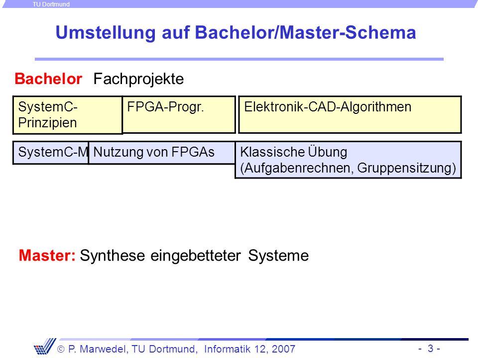 Umstellung auf Bachelor/Master-Schema