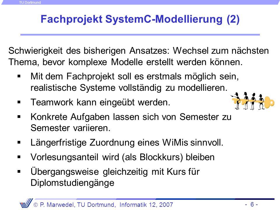 Fachprojekt SystemC-Modellierung (2)