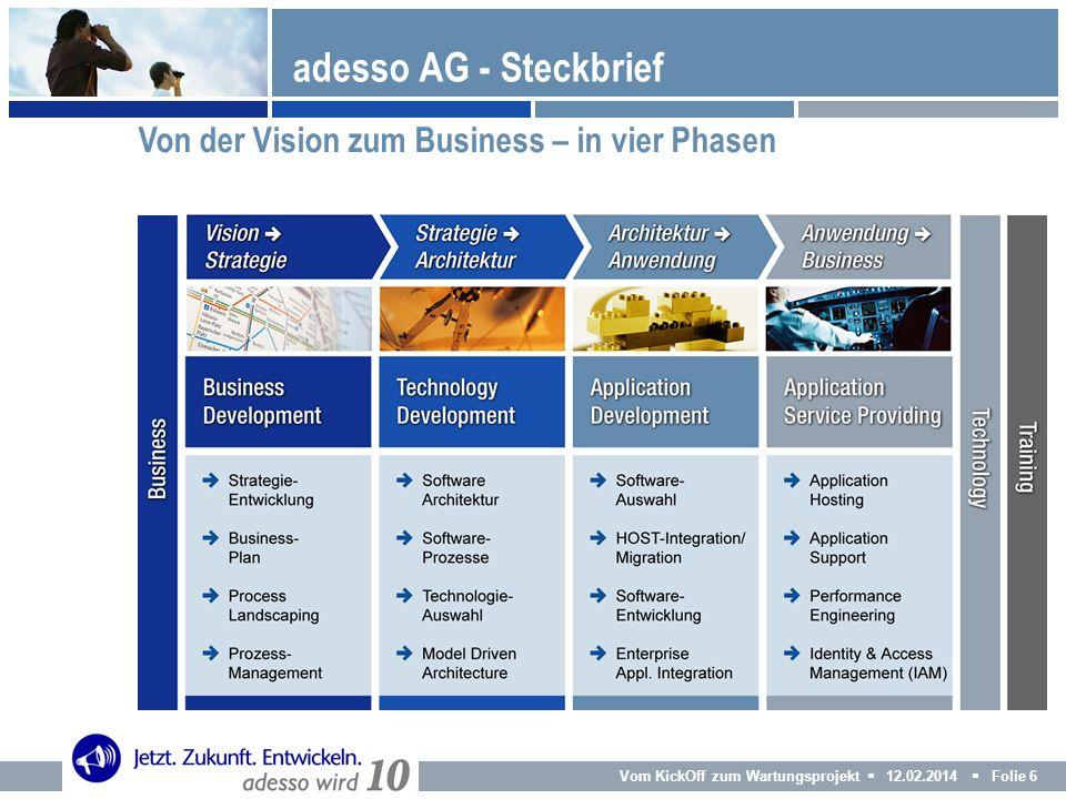 adesso AG - Steckbrief Von der Vision zum Business – in vier Phasen 6
