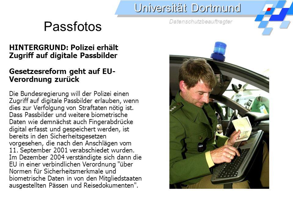Passfotos HINTERGRUND: Polizei erhält Zugriff auf digitale Passbilder