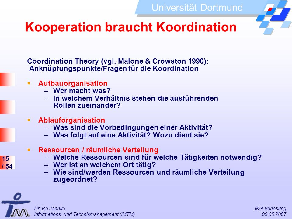 Kooperation braucht Koordination