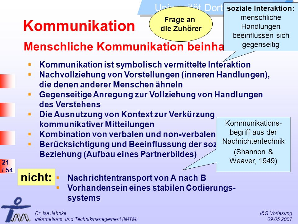 Kommunikations- begriff aus der Nachrichtentechnik