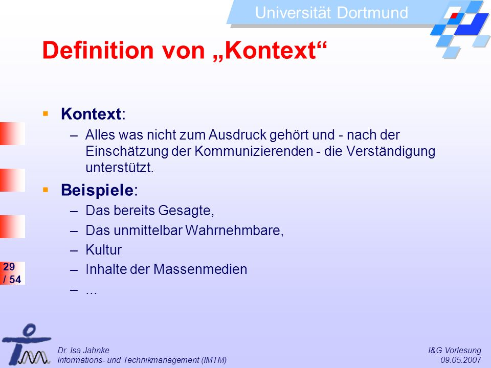 "Definition von ""Kontext"