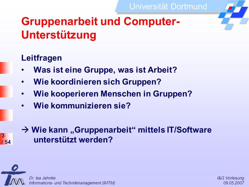 Gruppenarbeit und Computer-Unterstützung