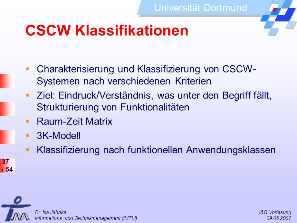 CSCW Klassifikationen