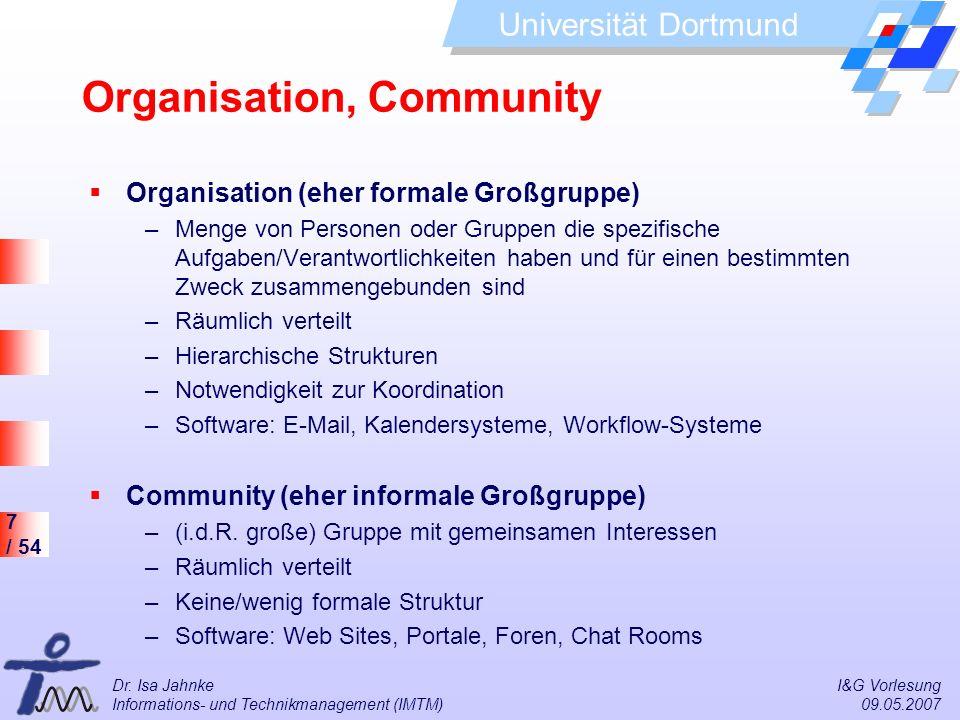 Organisation, Community