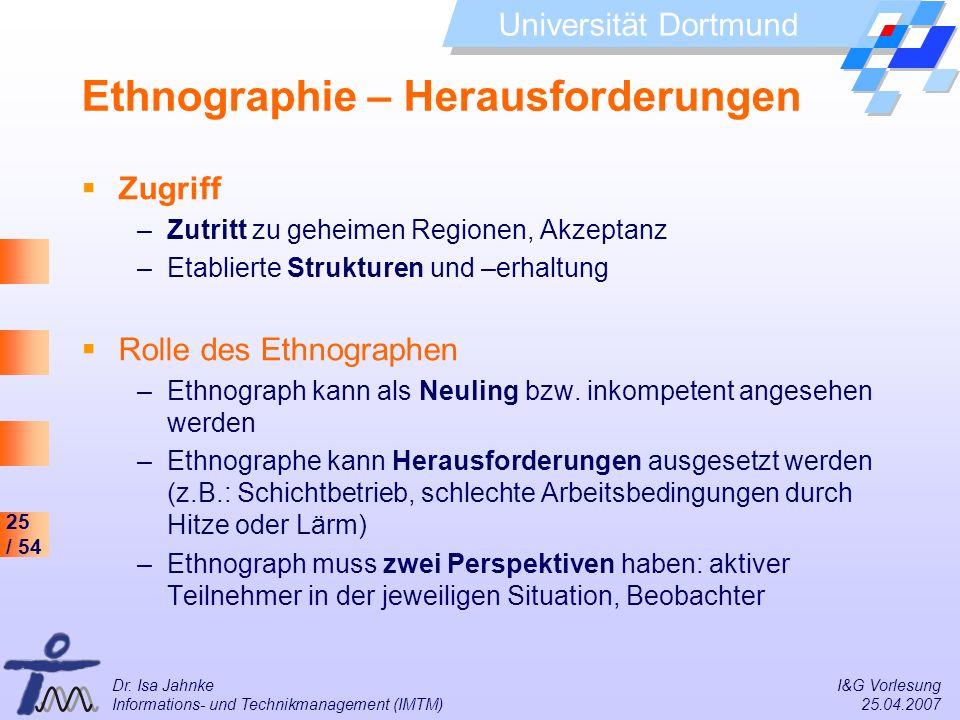 Ethnographie – Herausforderungen