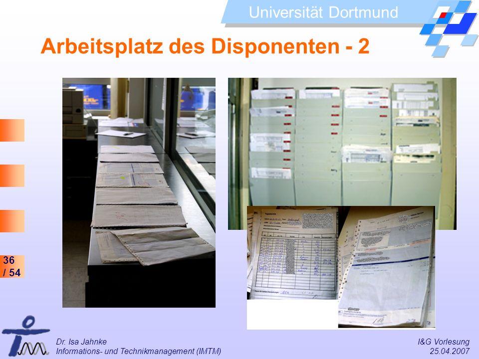 Arbeitsplatz des Disponenten - 2