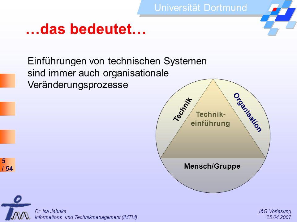 …das bedeutet… Einführungen von technischen Systemen