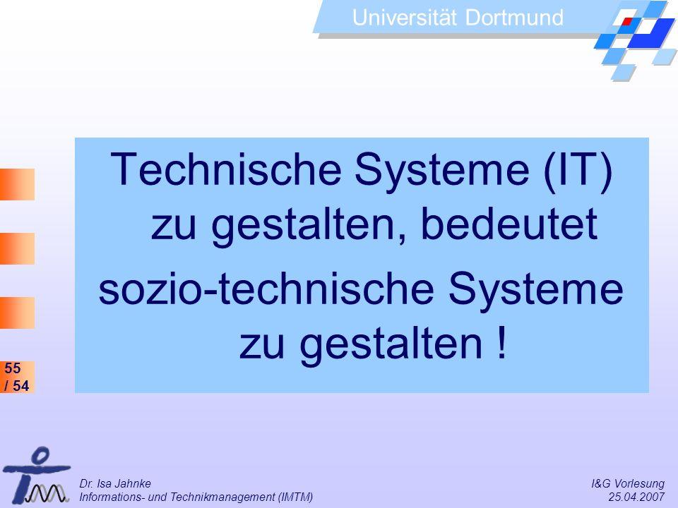 Technische Systeme (IT) zu gestalten, bedeutet