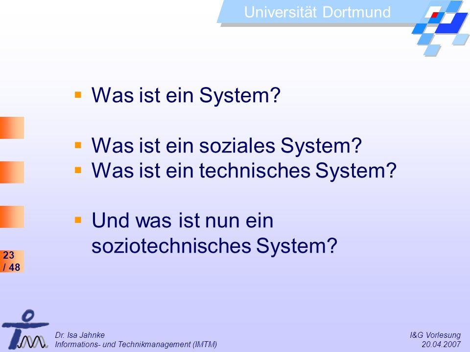 Was ist ein soziales System Was ist ein technisches System