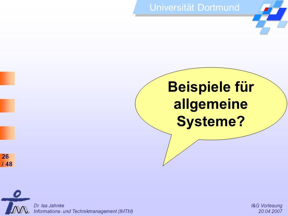 Beispiele für allgemeine Systeme