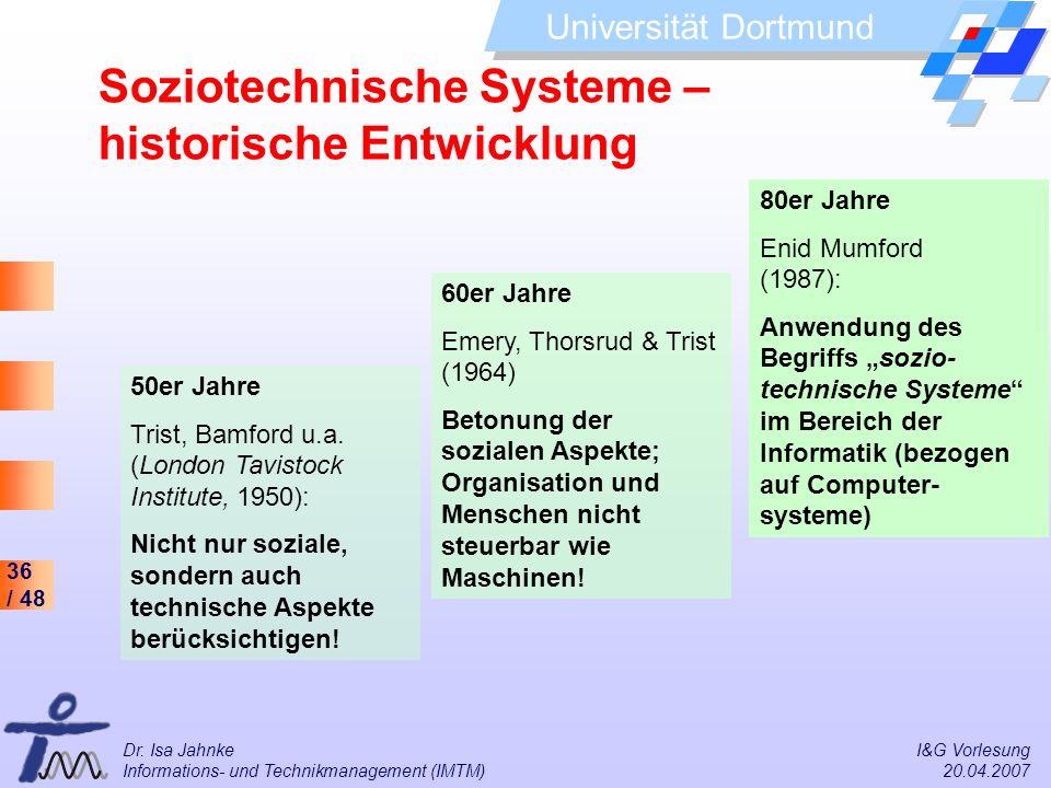 Soziotechnische Systeme – historische Entwicklung