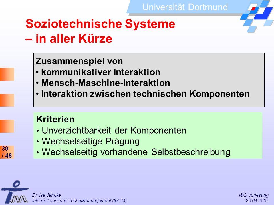 Soziotechnische Systeme – in aller Kürze
