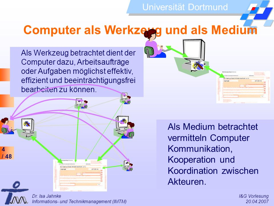 Computer als Werkzeug und als Medium