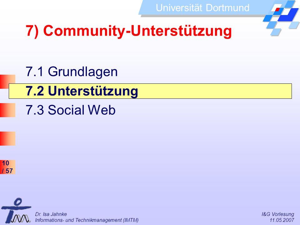 7) Community-Unterstützung